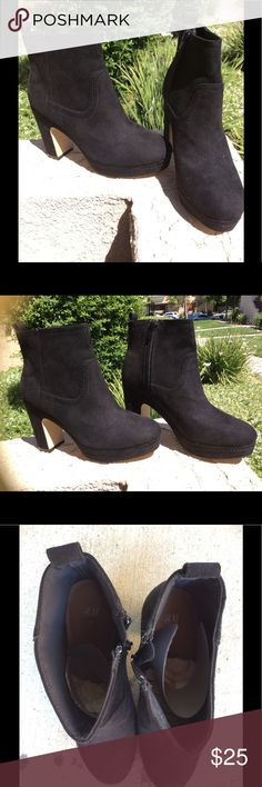 New H&M boots Never used, brand new H&M boots. Perfect condition! Heal is 10 centimeters tall (4 inches) H&M Shoes Heeled Boots