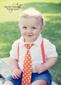 Items similar to Baby boy / Toddler Cake Smash Birthday Outfit including a necktie suspenders & party hat in Orange and White Polka Dots on Etsy Baby Boy Birthday, Birthday Ideas, Toddler Boys, Baby Kids, All American Boy, Twins 1st Birthdays, Foto Baby, Boy Poses, Cute Baby Clothes