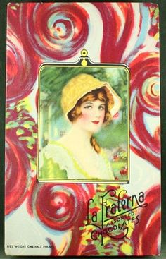 Antique Art Deco Flapper Girl La Fraterna 1920s Candy Chocolate Box Wild Graphic | eBay