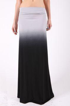 Black Ombre Maxi Skirt!!  $32 www.sevenandcoboutique.com
