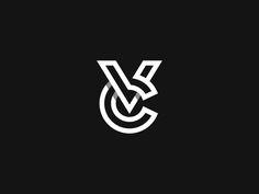 VC Monogram by Kakha Kakhadzen - Dribbble Marca Personal, Personal Logo, Initials Logo, Monogram Logo, Monogram Design, Graphic Design Branding, Lettering Design, Typography Logo, Logo Branding