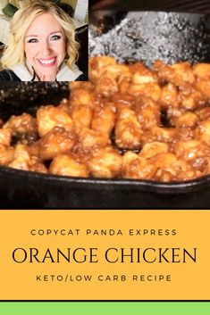 In this video I show you how I have created a copycat panda express keto/low carb orange chicken that is so close to the real thing you won't beli. Healthy Orange Chicken, Healthy Chicken Recipes, Low Carb Recipes, Keto Chinese Food, Orange Recipes, Cream Recipes, Beef Recipes For Dinner, Panda, Chicken Sauce