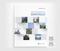 Samchully Annual REPORT 2018 | 커뮤니케이션 동감 Annual Report Covers, Cover Report, Annual Report Design, Ppt Design, Flyer Design, Brochure Layout, Magazine Design, Editorial Design, Portfolio Design