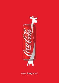 Motivo da escolha: Humor: A nova lata da Coca Cola com alongada em comparação ao pescoço de uma girafa.