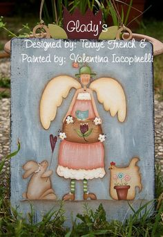 Country Painting EPattern Packet GLADYS Design by by BagOfSecrets, $5.00