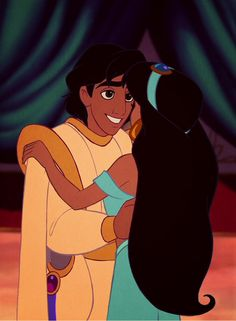 my favorite Disney couple, because Aladdin is the cutest prince:)