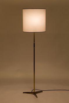 BAG Turgi Messing Stehlampe 50er - Okay Art