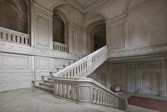 Grand but barren stone stairs...