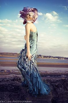 Emy Lou Photography    www.emylou.co.uk    https://www.facebook.com/Emy.Lou.Photography    #Devon #fashion #photography #beach #jewelery #model #emylou #sunset #goldenhour #shimmer #unique #purple #green #blue #aqua #headpiece #gold #goldleaf #quirky #stock #bookcover #romantic #girly #fun #edgy #waves