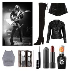 """""""lzzy hale get the look 1"""" by kileywoodsdesigns on Polyvore featuring Stuart Weitzman, Mason by Michelle Mason, VIPARO, MAC Cosmetics and Sally Hansen"""