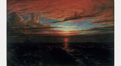 Francis Danby, Sunset at Sea after a Storm by Francis Danby, 1824