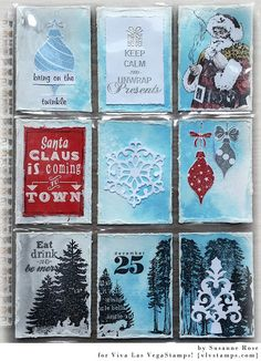 Susanne Rose - Papierkleckse: Christmas Pocket Letter with Viva Las VegaStamps!