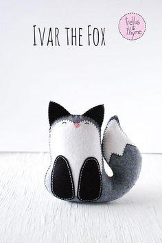 PDF Pattern - Ivar the Fox Felt Softie Pattern
