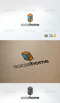 Social Home by enio Clear Vector Logo Could be used for businesses and needs, easy to edit and made any change you may want EPSversion included. nam
