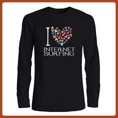 Idakoos - I love Internet Surfing colorful hearts - Hobbies - Long Sleeve T-Shirt - Sports shirts (*Partner-Link)