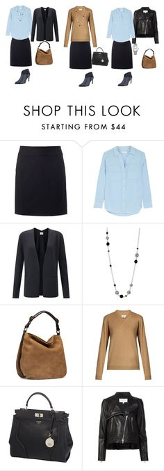"""""""the base wardrobe"""" by yelena-lorich ❤ liked on Polyvore featuring Apt. 9, Equipment, Jigsaw, John Hardy, UGG, Maison Margiela, GUESS, Veronica Beard and Calvin Klein"""