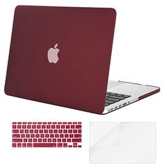 Mosiso Plastic Hard Case with Keyboard Cover with Screen Protector for Macbook Pro 13 Inch with Retina Display No CDROM A1502A1425 Marsala Red -- Find out more about the great product at the image link.