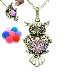 Essential Oil Diffuser, Essential Oils, Diffuser Necklace, Aromatherapy, Owl, Fragrance, Bronze, Charmed, Amazon