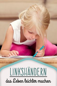 This makes life easier for small left-handers - Art Education ideas Primary Education, Primary School, Pre School, Baby Co, Baby Kids, Working With Children, School Organization, Raising Kids, Left Handed
