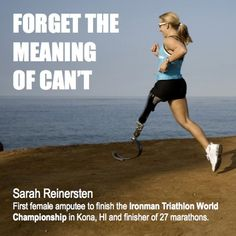 forget the meaning of can't