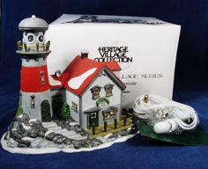 DEPARTMENT 56 Pigeonhead Lighthouse New England Heritage Village Orig Box 56537
