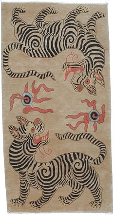 Tiger Carpet, love! Think I may try to paint this on a flat-weave rug... hmm?
