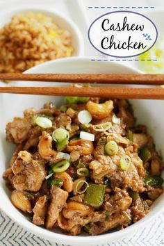 """Make Chinese take-out your own by making it at home. Control excess salt & msg & add only the """"extras"""" you want - so easy & delicious. Easy Asian Recipes, Healthy Recipes, Ethnic Recipes, Cashew Chicken, Asian Chicken, Braised Chicken, Asian Cooking, I Love Food, Chicken Recipes"""