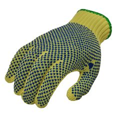 Amazon.com: G and F 1670M Cut Resistant 100-Percent Kevlar Gloves with PVC Dots on Both Sides, Yellow, Medium, 1-Pair: Home Improvement