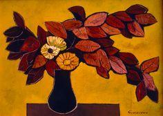 """Flores Secas,"" Oswaldo Guayasamin, Oil on canvas, 1999"