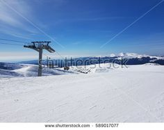Romania ski resort in Prahova valley