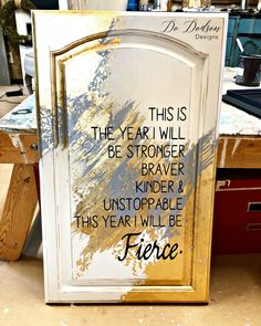 Gold leaf furniture can add a pop of GLAM to your home if you like that kinda wow factor. It's also a great way to dress up other projects as well. How about this .97 cent cabinet door I purchased at the ReStore?  Want to learn more about gold leafing? Come on over and I'll show you. :)