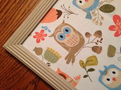 Wall Decor- Extra Large Magnetic Bulletin Board, Photo Board, Vision Board, Whimsical Owls, Includes Magnets