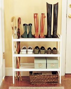 Mudroom Shoe Rack. This is what I want by my front door!