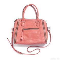 Elisha Zipper Accent Structured Satchel