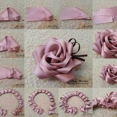 Best 8 How to make simple Fabric Roses DIY tutorial instructions, How to, how to do, di… – SkillOfKing. Fabric Roses Diy, Satin Ribbon Flowers, Cloth Flowers, Grosgrain Ribbon, Dried Flowers, Ribbon Crafts, Flower Crafts, Rose Crafts, Diy Crafts
