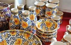 Emma Bridgewater collector's day ~ 16th July 2014 - one of those milk bottles is mine!