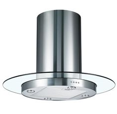 Modern Kitchen Extractor Fans cookology tub900gl 90cm round glass & stainless steel tubular