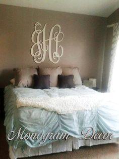 36 INCH Wooden monogram Wall Letters Wedding by MonogramDecorNest, $115.00