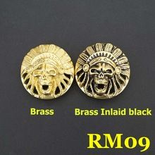 RM09 35mm Brass Conchos For Belts