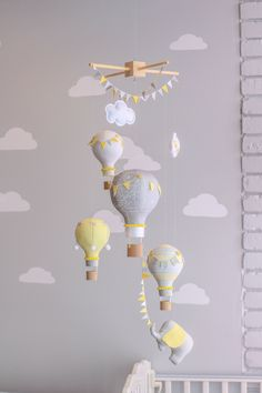 Gleichstellung der Neutral Baby Mobile Hot Air Balloon und