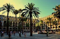 La Plaça Reial, Barcelone