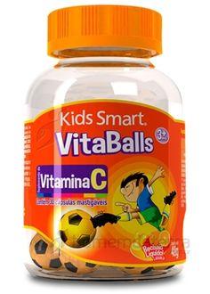 Vitaballs da Kids Smart é um suplemento de vitamina C destinado ao público infantil, com suas cápsulas em formato de bolas de futebol e sendo mastigáveis.