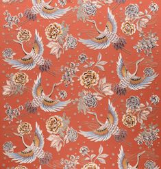 TAKARA CRANE - Designer Wall coverings / wallpapers from Arte ✓ all information ✓ high-resolution images ✓ CADs ✓ catalogues ✓ contact. Monkey Wallpaper, Bird Wallpaper, Home Wallpaper, Black Wallpaper, Designer Wallpaper, Chinoiserie, Pretty Flowers, Decoration, Flowers