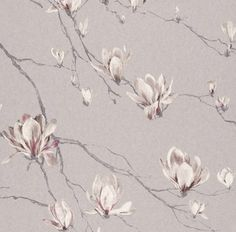 Living room wall coverings available from WCI Wallpapers Pty Ltd Floral Wallpaper Iphone, Flower Wallpaper, Pattern Wallpaper, Jaipur, Small Space Interior Design, Interior Design Living Room, Lilac Bedroom, Magnolia Wallpaper, Grey And Beige