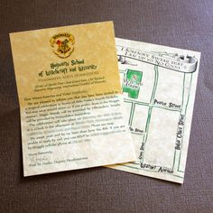 Invitations to a Harry Potter Party