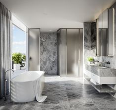525 High Street by JBC Architecture and Hecker Guthrie Contemporary Bathrooms, Modern Bathroom Design, Bathroom Interior Design, Glamorous Bathroom, Timeless Bathroom, Best Home Interior Design, Luxury Homes Interior, Bathtub Remodel, Bathroom Inspiration