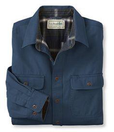 Llbean Signature Lined Wool Blend Shirt Jacket Slim Fit