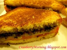 Cranberry Morning Basil Pesto and Pepperjack Grilled Cheese Recipe