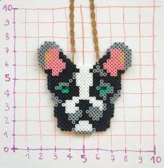 Dog necklace hama mini beads by tructoc