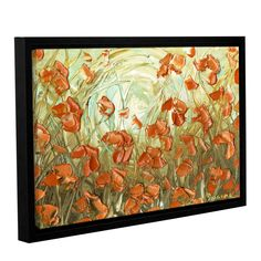 ArtWall Susanna Shaposhnikova's Poppies, Gallery Wrapped Floater-framed